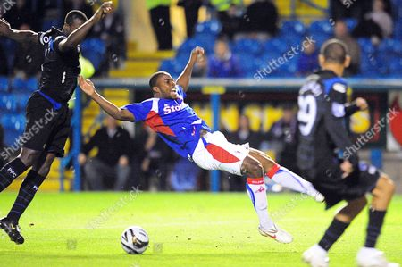Editorial picture of Carling Cup. Carlisle United vs Portsmouth - 22 Sep 2009