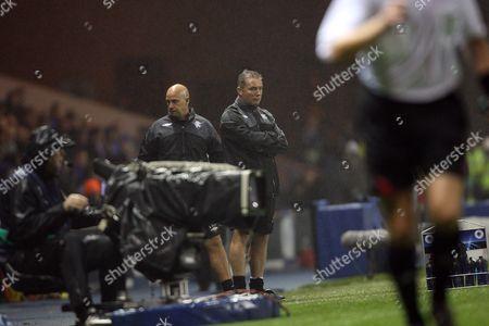 RANGERS v SEVILLA Uefa Champions League Group G Ibrox Stadium Glasgow Rangers assistant bosses Ally McCoist and Kenny McDowell 29-9-2009