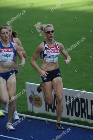 Athletics World Championships - Berlin Jemma Simpson (GBR) in the heats of the 800m 16/08/2009