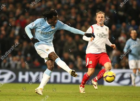 Football Manchester City v Blackburn Rovers City of Manchester Stadium Barclays Premier League 11/01/2010 Benjani Mwaruwari of Manchester City
