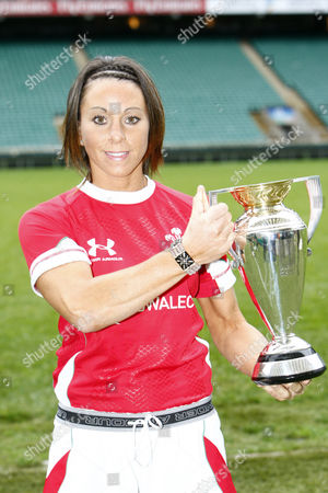 Rugby Wales player Non Evans Women's Rugby World Cup 2010 Media Launch at Twickenham Stadium 23/11/2009