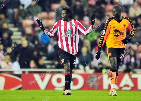 Football Barclays Premier League Sunderland vs Wigan Athletic at the Stadium of Light Benjani Mwaruwari (Sunderland) 06/02/2010