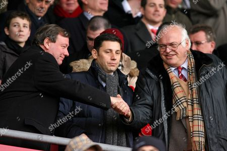 Football FA Cup Fifth Round sponsored by E ON Southampton vs Portsmouth at St Mary's Stadium Portsmouth Executive Chairman Peter Storrie shakes hands with Southampton Owner Markus Liebherr 13/02/2010