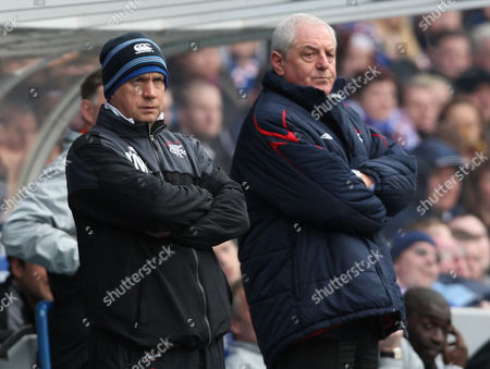 Rangers vs Dundee United The Active Nation Scottish Cup 6th Round Ibrox Stadium Kenny McDowell and Walter Smith 14th March 2010