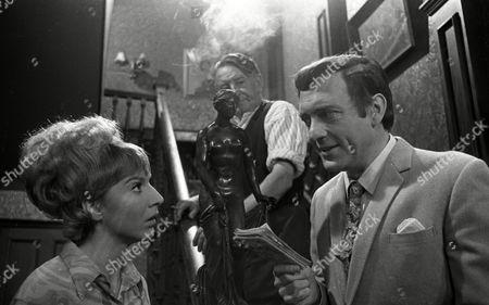 Harry H Corbett (as Jigger Barrett), Wilfred Pickles (as Jontie Barrett) and Fiona Walker (as Sheila Lunn)