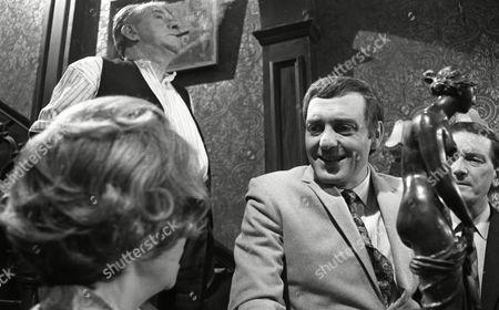 Harry H Corbett (as Jigger Barrett), Richard Butler (as Harry Garbutt), Clare Kelly (as Millie Garbutt) and Wilfred Pickles (as Jontie Barrett)