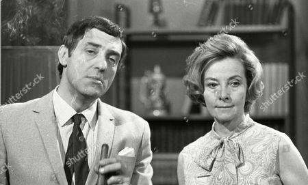 Harry H Corbett (as Jigger Barrett) and Clare Kelly (as Millie Garbutt)