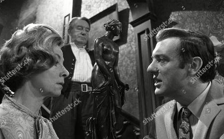 Harry H Corbett (as Jigger Barrett), Clare Kelly (as Millie Garbutt) and Wilfred Pickles (as Jontie Barrett)
