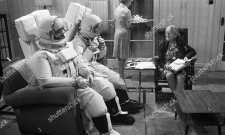 Weston Gavin (as Bill Johnson) and Lon Satton (as Lunar Module Pilot) and Madoline Thomas (as Granny)