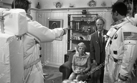 Weston Gavin (as Bill Johnson) and Lon Satton (as Lunar Module Pilot) and Madoline Thomas (as Granny) and John Moore (as George)