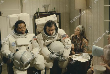 Weston Gavin (as Bill Johnson) and Lon Satton (as Lunar Module Pilot), with Zoe Wanamaker (as Alice)