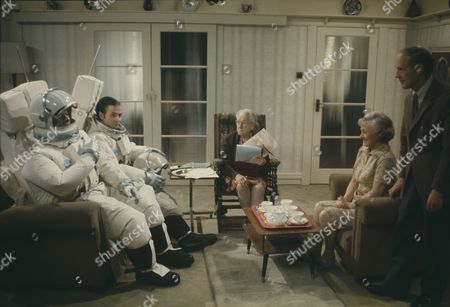 Weston Gavin (as Bill Johnson) and Lon Satton (as Lunar Module Pilot) with Madoline Thomas (as Granny) and Mary Chester (as Mother)