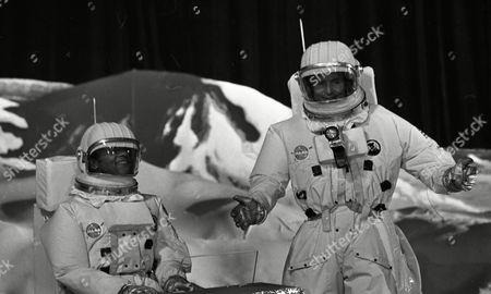 Weston Gavin (as Bill Johnson) and Lon Satton (as Lunar Module Pilot)
