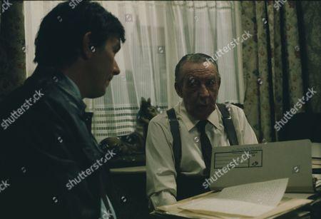 Wilfred Pickles (as Bernard King) and Michael Elphick (as Ron Hibbert)