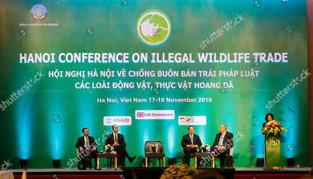 Prince Wiliam, Dang Thi Ngoc Thinh Britain's Prince William, Duke of Cambridge, second from left, listens to a speecc by Vietnam's Vice President Dang Thi Ngoc Thinh, right, at an international conference on illegal wildlife trade in Hanoi, Vietnam, . The two-day conference will discuss ways to eradicate illegal wildlife trade