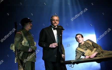 Stock Photo of 'Never So Good'  - Nicholas Lumley (Sergeant Robinson), Jeremy Irons (Harold Macmillan) and Pip Carter (Young Harold)