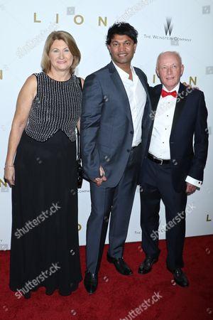 Susan Brierley, Saroo Brierley and John Brierley