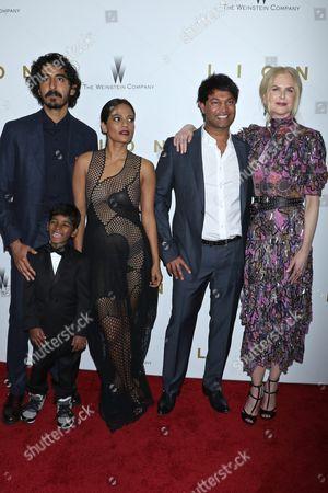 Dev Patel, Sunny Pawar, Priyanka Bose, Saroo Brierley and Nicole Kidman