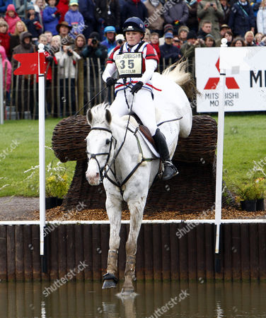 Stock Photo of Equestrian - Badminton Horse Trials - Cross Country Rider Nicola Malcolm (GBR) on MCFLY at Badminton