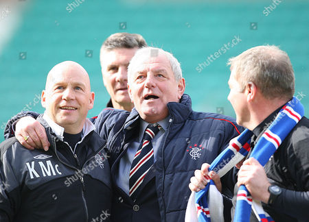 Football - Scottish Premier League - Hibs vs Rangers Rangers Assistant Managers Kenny McDowell & Ally McCoist with manager Walter Smith in the centre