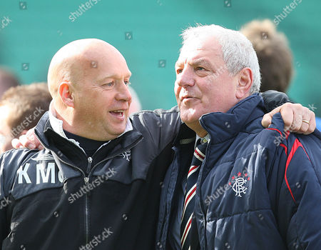 Football - Scottish Premier League - Hibs vs Rangers Rangers win 2009 - 2010 SPL Rangers assistant managers Kenny McDowell and manager Walter Smith
