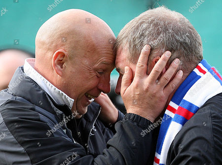 Football - Scottish Premier League - Hibs vs Rangers Rangers win 2009 - 2010 SPL Rangers assistant managers Kenny McDowell and Ally McCoist