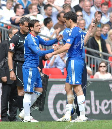 Football - Chelsea v Portsmouth FA Cup Final 15/05/2010 at Wembley Michael Ballack (Chelsea ) is substituted for Juliano Belletti after being injured