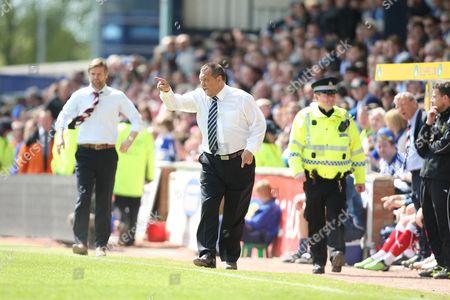 Stock Picture of Kilmarnock vs Falkirk Rugby Park Kilmarnock Kilmarnocks's manager Jimmy Calderwood 8th May 2010