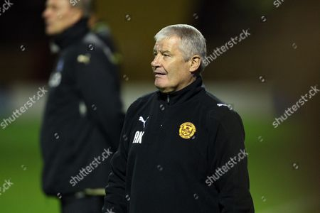 Stock Picture of Football - Europa League - Motherwell vs Odense BK Motherwell assistant manager Archie Knox during Motherwell vs Odense BK third round second leg Europa League match at Fir Park United Kingdom Glasgow