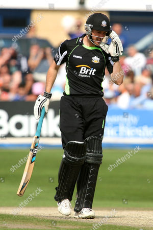 Cricket - Clydesdale Bank 40 - Sussex Sharks vs Surrey Lions at The County Ground Hove Chris Schofield of Surrey Lions