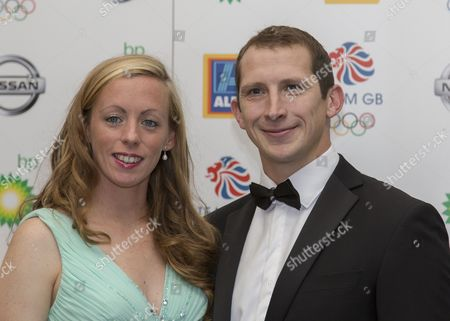 Stock Image of Team GB Ball 2015 - The Royal Opera House London Ed McKeever and wife Anya Kuczha attend the team GB ball  United Kingdom London