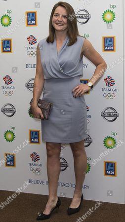 Team GB Ball 2015 - The Royal Opera House London Goldie Sayers Javelin Thrower at the Team GB Ball  United Kingdom London