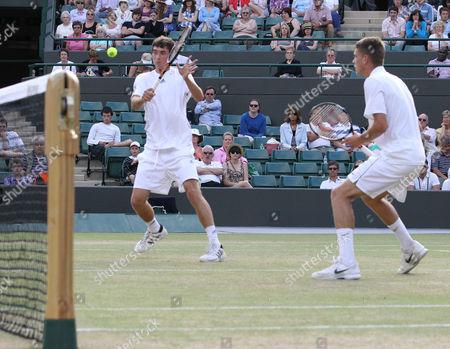 Tennis - The Wimbledon Championships - Junior Doubles Final Lewis Burton and George Morgan ( GBR ) vs Liam Broady and Tom Farquharson ( GBR ) Lewis Burton ( GBR ) and George Morgan ( GBR ) at the All England Lawn Tennis and Croquet Club