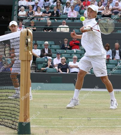 Tennis - The Wimbledon Championships - Junior Doubles Final Lewis Burton and George Morgan ( GBR ) vs Liam Broady and Tom Farquharson ( GBR ) Liam Broady and Tom Farquharson ( GBR ) at the All England Lawn Tennis and Croquet Club