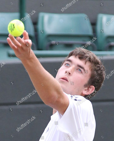 Tennis - The Wimbledon Championships - Junior Doubles Final Lewis Burton and George Morgan ( GBR ) vs Liam Broady and Tom Farquharson ( GBR ) George Morgan ( GBR ) at the All England Lawn Tennis and Croquet Club