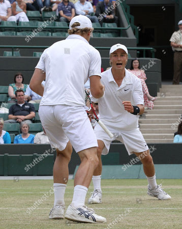 Tennis - The Wimbledon Championships - Junior Doubles Final Lewis Burton and George Morgan ( GBR ) vs Liam Broady and Tom Farquharson ( GBR ) Liam Broady and Tom Farquharson ( GBR ) celebrates they win at the All England Lawn Tennis and Croquet Club