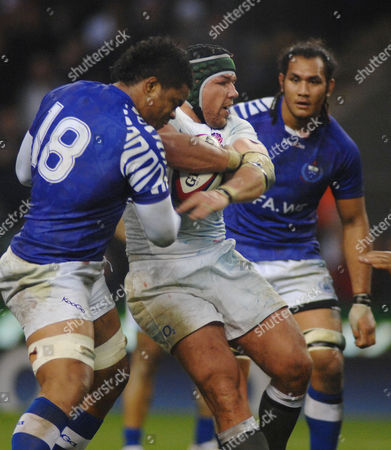 Rugby Union - International Friendly England v Samoa Hendre Fourie (Samoa) Investec Internationals 20/11/2010