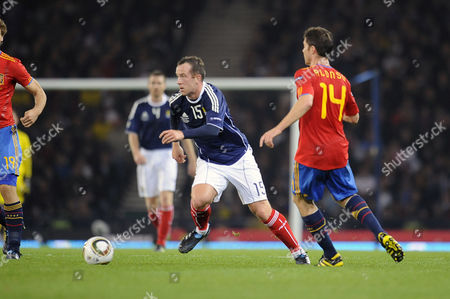 Football - Euro 2012 Qualifying - Scotland vs Spain Charlie Adam (Scotland) at Hampden Park