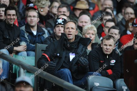 Rugby Union - 2012 / 2013 Heineken Cup - Quarter-Final: Saracens vs Ulster at Twickenham Brendan Venter - Saracens Technical director and Mark McCall - Director of Rugby (right)