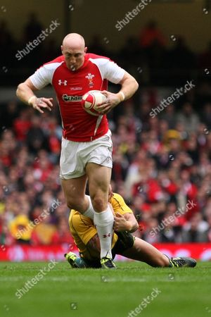 Rugby Union - International Friendly - Wales v Australia Tom Shanklin of Wales is challenged at the Millennium Stadium
