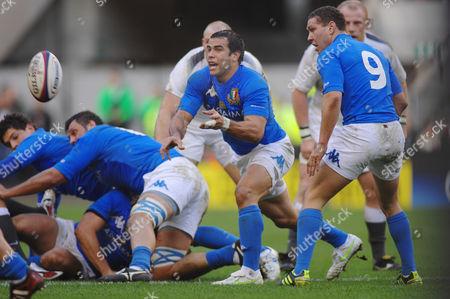 Rugby Union - Six Nations Championship - England vs Italy 12/02/2011 Luciano Orquera and Fabio Semenzato - right (Italy)