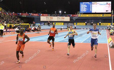Athletics - AVIVA Grand Prix - Birmingham Mark Lewis- Francis in the mens 60m heats