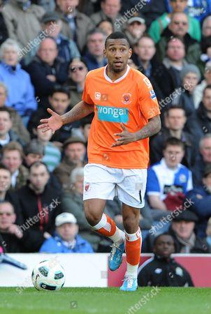 Football - Premier League - Blackburn Rovers vs Blackpool Blackpools Elliot Grandin at Ewood Park Stadium Blackburn