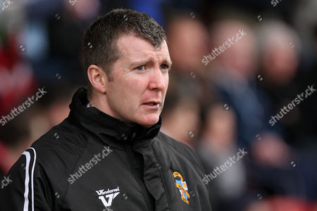 Football - League Two - Crewe vs Port Vale Port Vale manager Jim Gannon at the Alexandra Stadium