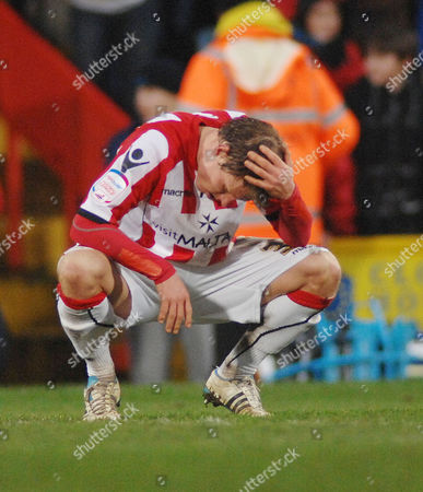 Football - Championship - Crystal Palace vs Sheffield United 19/02/2010 Sheffield United's Bjorn Helge Riise shows his disappointment at the final whistle