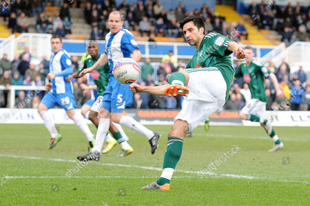 Football - League One - Hartlepool United vs Plymouth Argyle Rory Fallon (Plymouth Argyle) at Victoria Park
