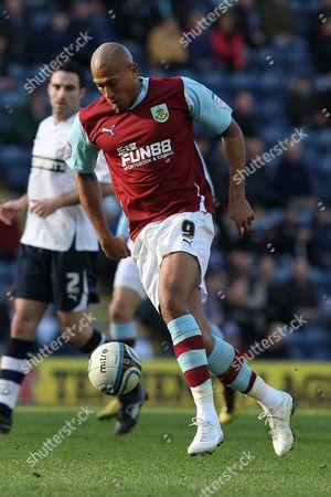 Football - The Championship - Preston North End vs Burnley Chris Iwelumo of Burnley at Deepdale