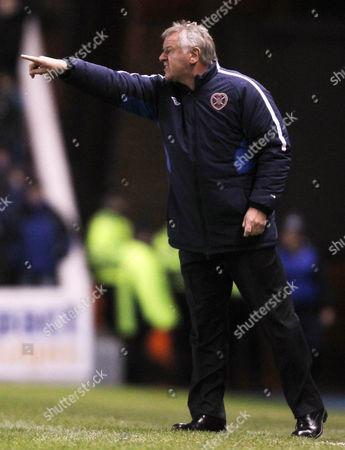 Football - Scottish Premier League - Rangers vs Hearts Hearts manager Jim Jeffries during the Rangers vs Hearts Clydesdale Bank Premier league match at Ibrox Stadium United Kingdom Glasgow