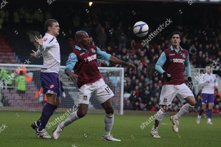 Football - FA Cup Third Round - West Ham United vs Barnsley Luis Boa Morte Of West Ham at Upton Park London