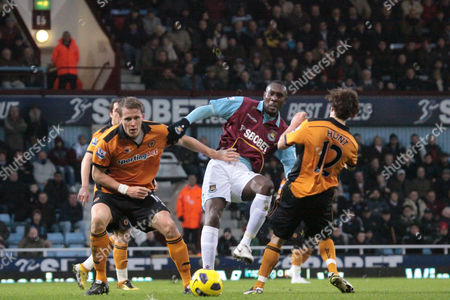 Football - Premier League - West Ham United vs Wolverhampton Wanderers Luis Boa Morte Of West Ham at Upton Park London